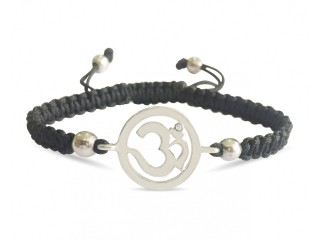 Aum Charm Silver Bracelet For Girls