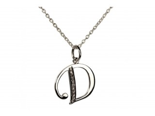 Aumkaara Alphabet D Pendant With Diamonds