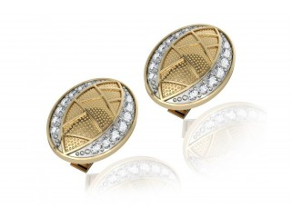 Shop Eric Designer Diamond Cufflink in Gold