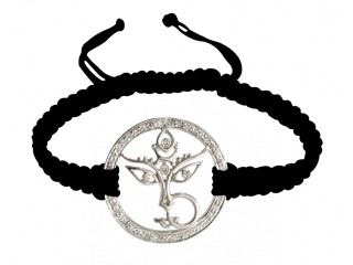 Online Durga Mata Bracelet With Diamonds In Silver