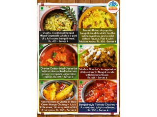 Do you want to eat home cooked bengali food at the end of a hard day