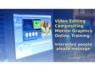 Video Editing, Compositing, Motion Graphics Online Training